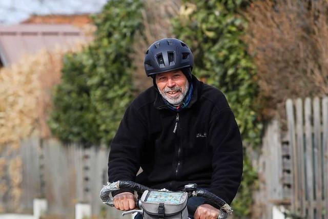 Hermann Fuchs fährt seit 50 Jahren von Neuried nach Offenburg mit dem Fahrrad zur Arbeit