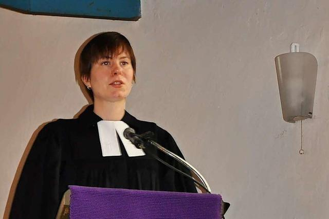 Pfarrerin Johanna Pähler will den Menschen in Efringen-Kirchen Hoffnung machen