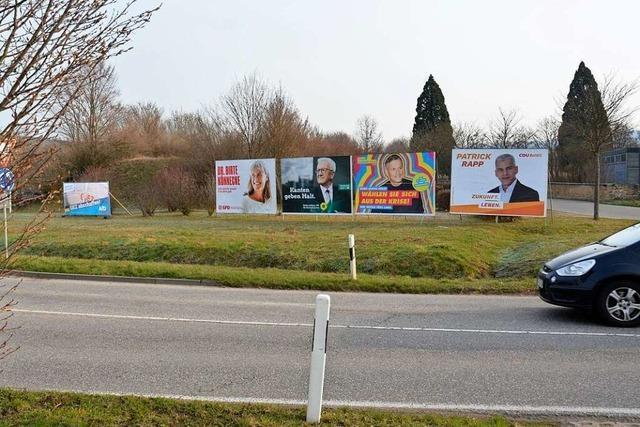 Polizei ermittelt wegen zerstörter Wahlplakate in Ehrenkirchen