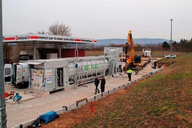 Eine Gas-Tankstelle für Lkw entsteht in Ettenheim