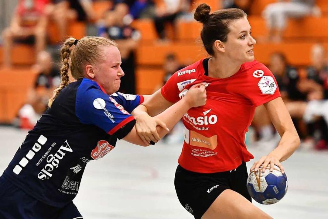 Das Logo der Handball-Bundesliga der F... weiter  auf ihrem Trikotärmel tragen.    Foto: Achim Keller