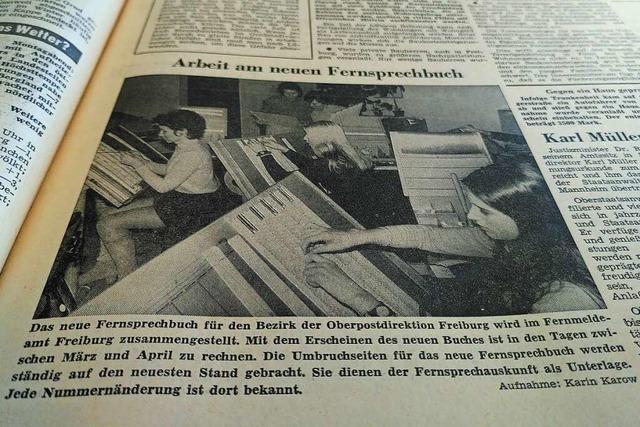 1971 war ein Telefonbuch noch eine große Bastelei