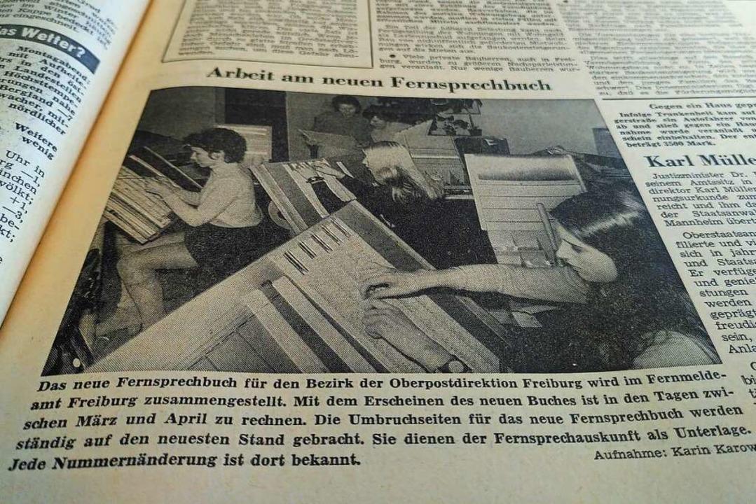 Eine Telefonbuch Marke Eigenbau war vor 50 Jahren Thema in der BZ.  | Foto: Moritz Neufeld