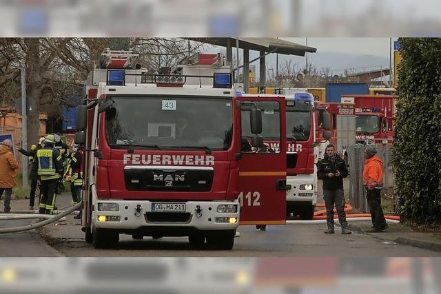 Gasleitung beim Tankhof Grün angebohrt