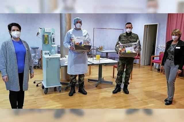 Soldaten als Testhelfer verabschiedet