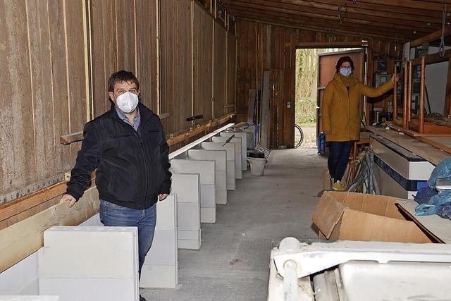 Bauarbeiten im Vereinsheim