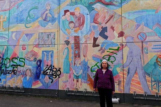 Das Wandgemälde am Rheinfelder Gymnasium droht zu verblassen