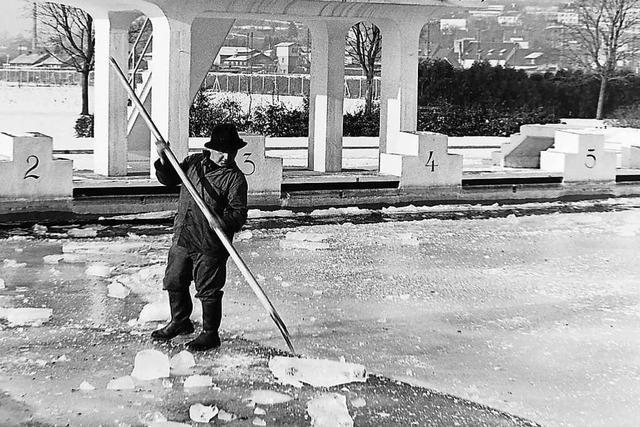 Im Winter 1963 froren in Emmendingen Wasserleitungen zu