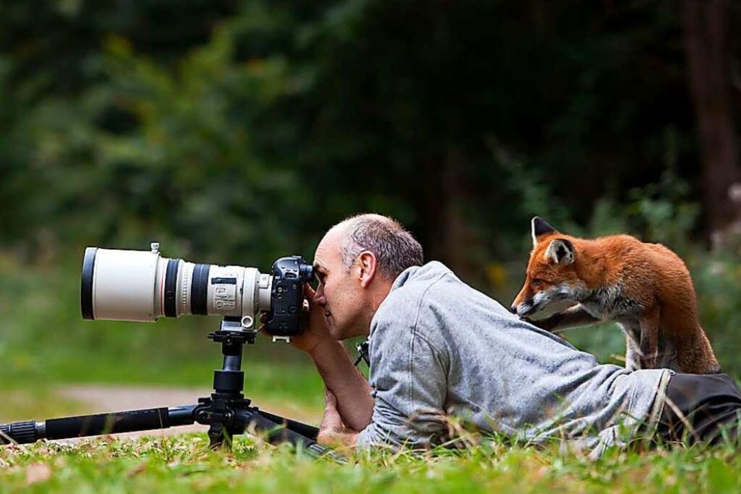 Der Fotograf braucht für manchen Schna... braucht sie zur Zeit in der Pandemie.  | Foto: Echle