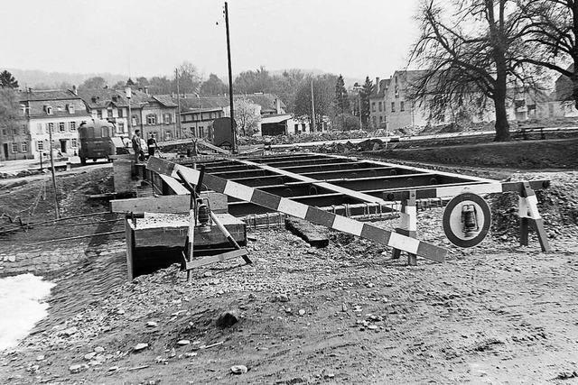 Die Schützenbrücke wurde 1963 sparsam repariert