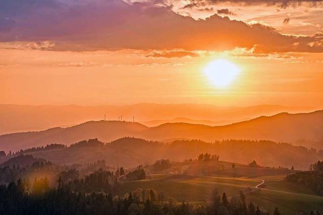 So schön sind die Sonnenuntergänge in Freiburg