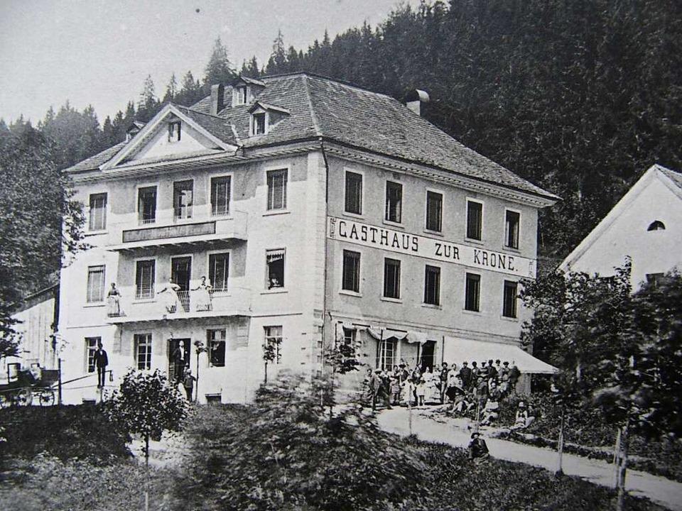 Das ehemalige Hotel oder Gasthaus zur Krone.  | Foto: Repro Thomas Mutter
