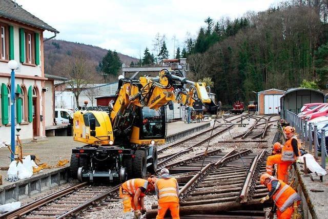 Wie die Gleise der Kandertalbahn erneuert werden