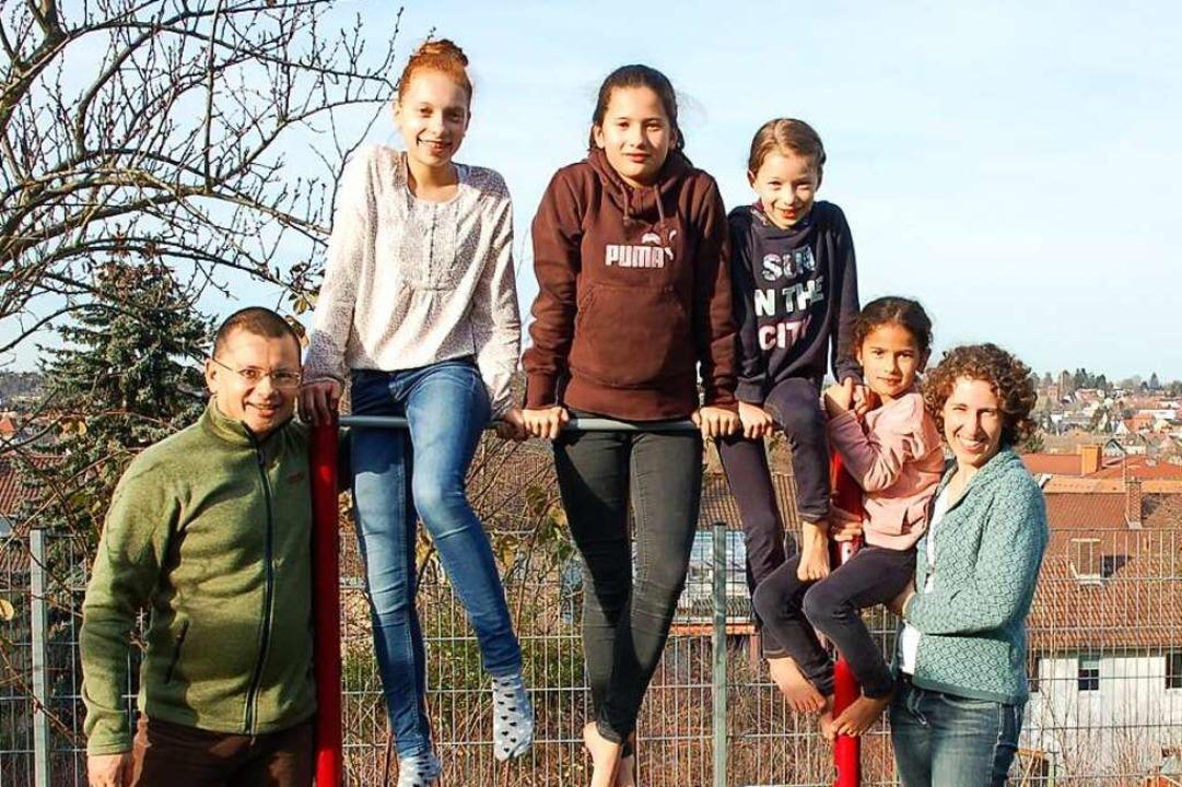 Die Turnerfamilie Korn: (von links)  V...fine, Mathilde und Mutter Claudia Korn  | Foto: Wolfgang Beck