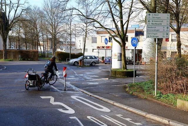 Poller in Freiburg-Zähringen werden zur Gefahrenstelle