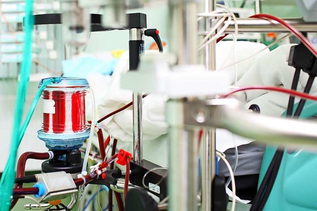 Die letzte Chance für manche Covid-19-... Blut Sauerstoff zuführt (Symbolbild).  | Foto: sudok1 (Adobe Stock)