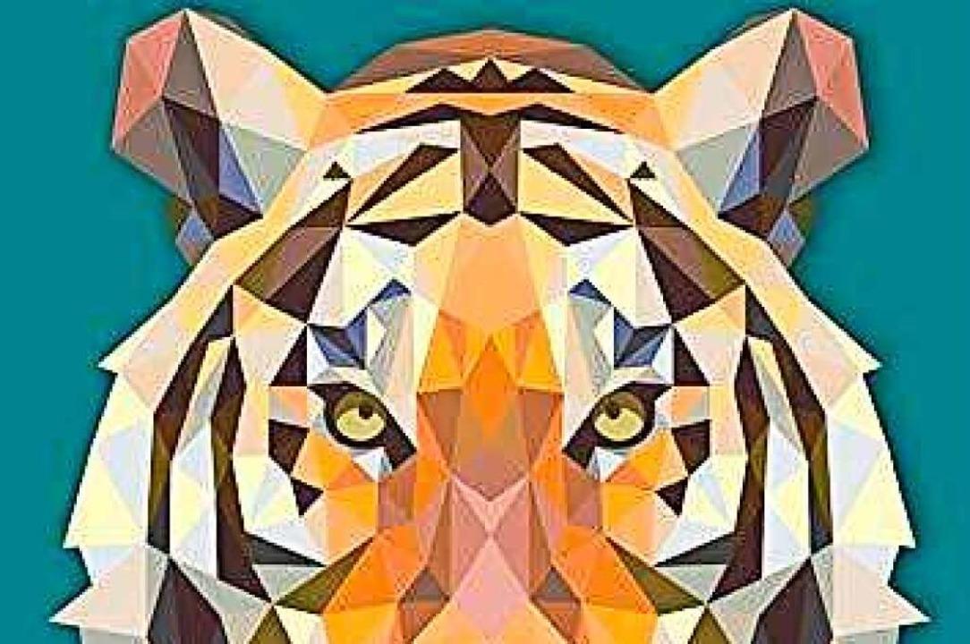 Strenge Kunst: Tigerkopf aus dem Buch ...gibt verschiedene Schwierigkeitsgrade.  | Foto: Christoph Alexander (Polygone Magie)