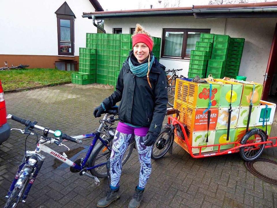 Ökologisch ans Ziel: Der Klosterhof in Gundelfingen liefert per Lastenrad.  | Foto: Michael Neubauer