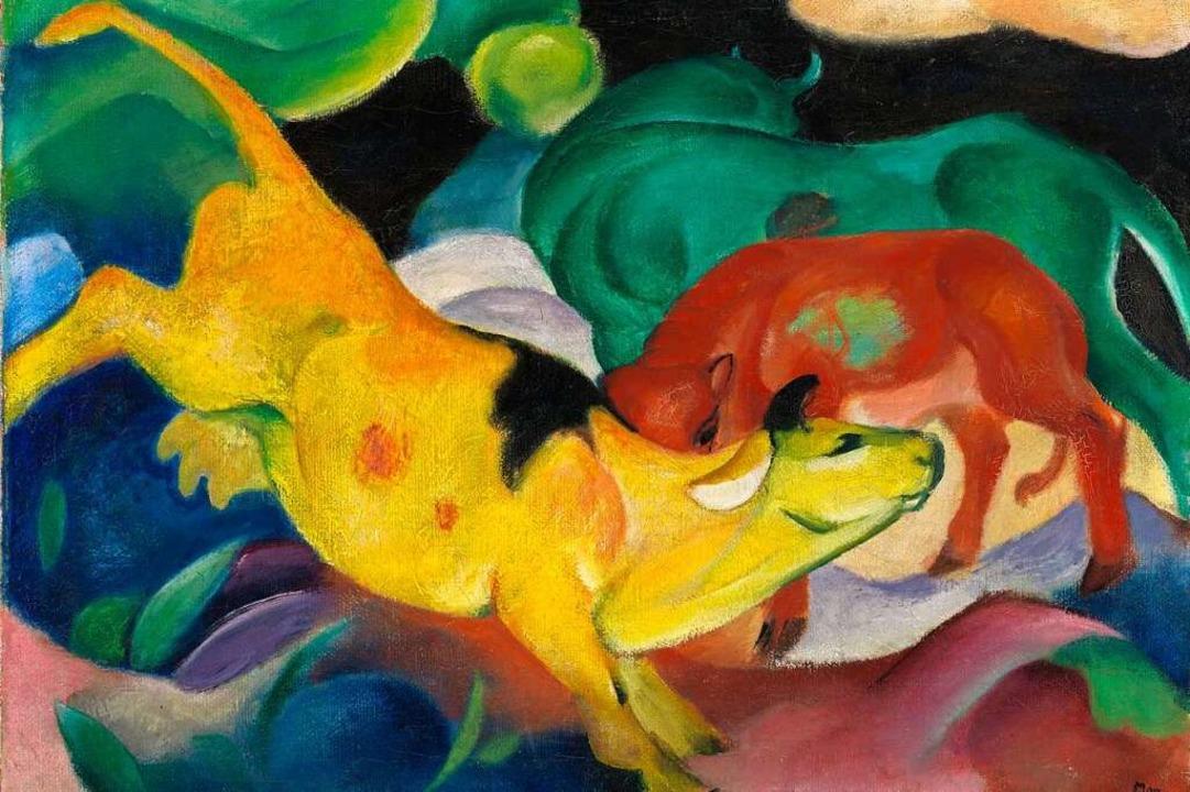 Franz Marc; Kühe, rot, grün, gelb, 191...he Galerie im Lenbachhaus und Kunstbau  | Foto: Städtische Galerie im Lenbachhaus und Kunstbau