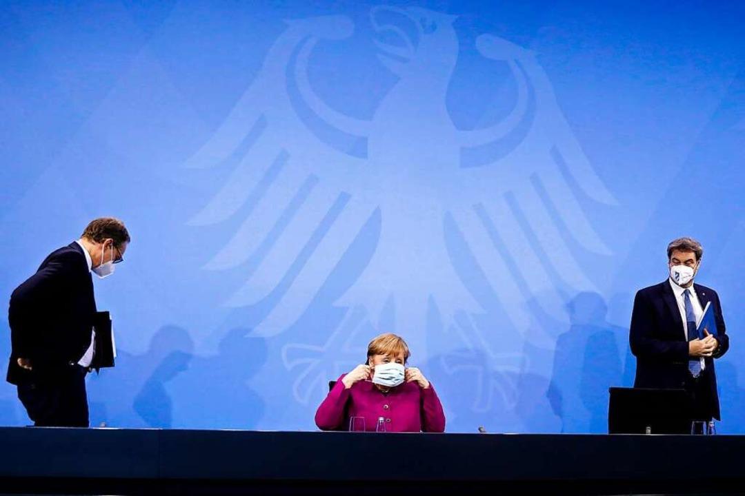 Am Montag sind wieder Bund-Länder-Verh...rpräsident von Bayern (Foto von März).    Foto: Markus Schreiber (dpa)