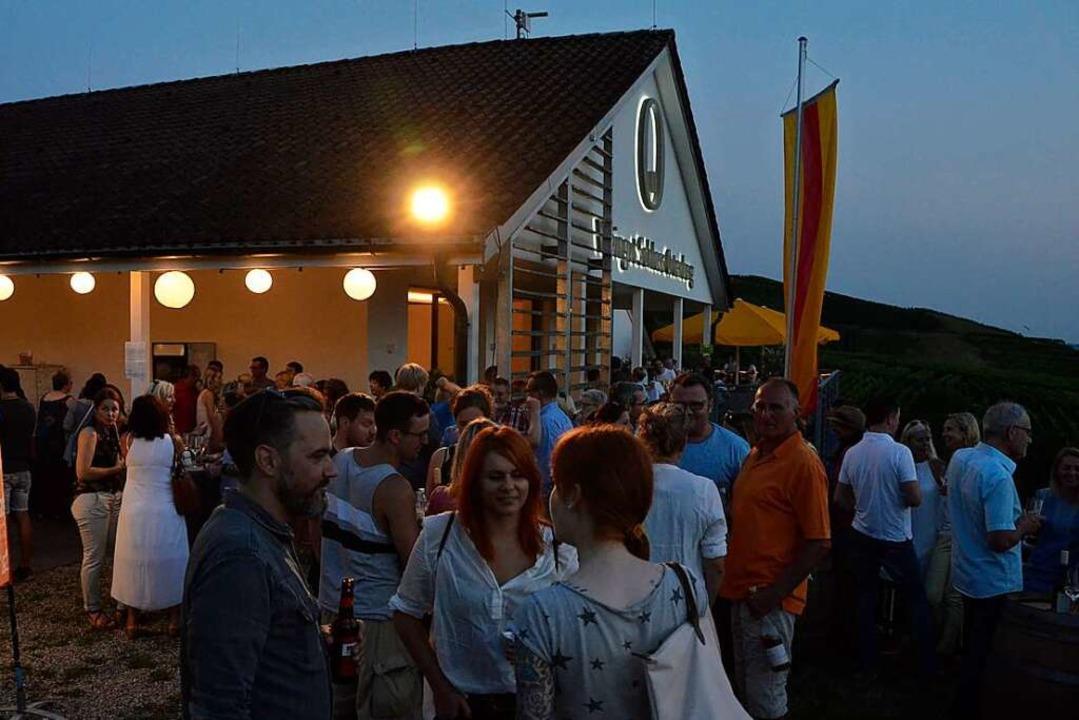 Beliebt bei Weinfreundinnen und -freun...Events des Weinguts Schloss Ortenberg.    Foto: hrö