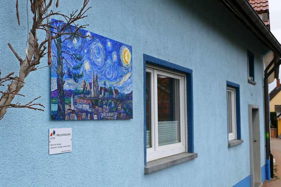 """Im Langen Weg ist Wolfram Pauls &#8222..., Hommage an Van Gogh"""" zu sehen.    Foto: Sattelberger"""