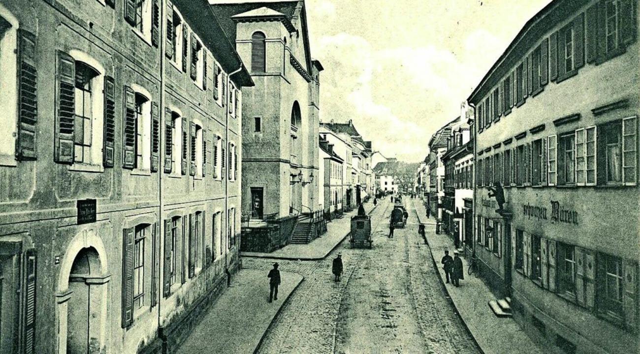 So sah es hier um 1900 aus: Historisch...mmlung des Dreiländermuseums (Po 671)     Foto: Dreiländermuseum