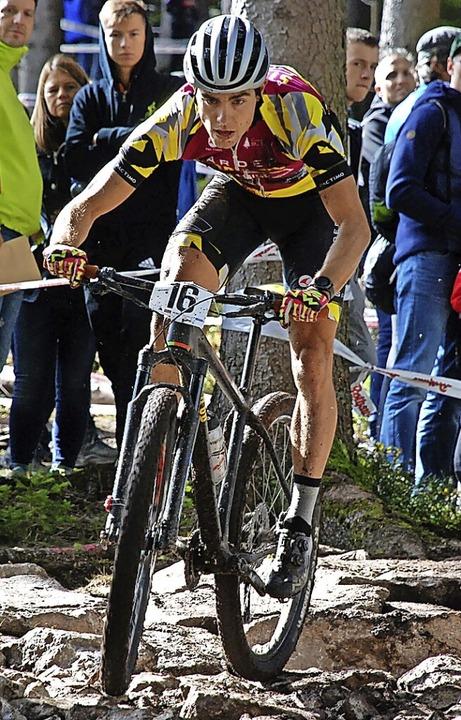 Nur knapp die Top Ten verpasst: Julian Schelb vom Team Stop&Go Marderabwehr  | Foto: Ruoff