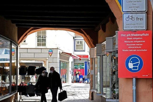 72 Bußgelder wegen Verstößen gegen die Maskenpflicht in der Fußgängerzone in Lahr
