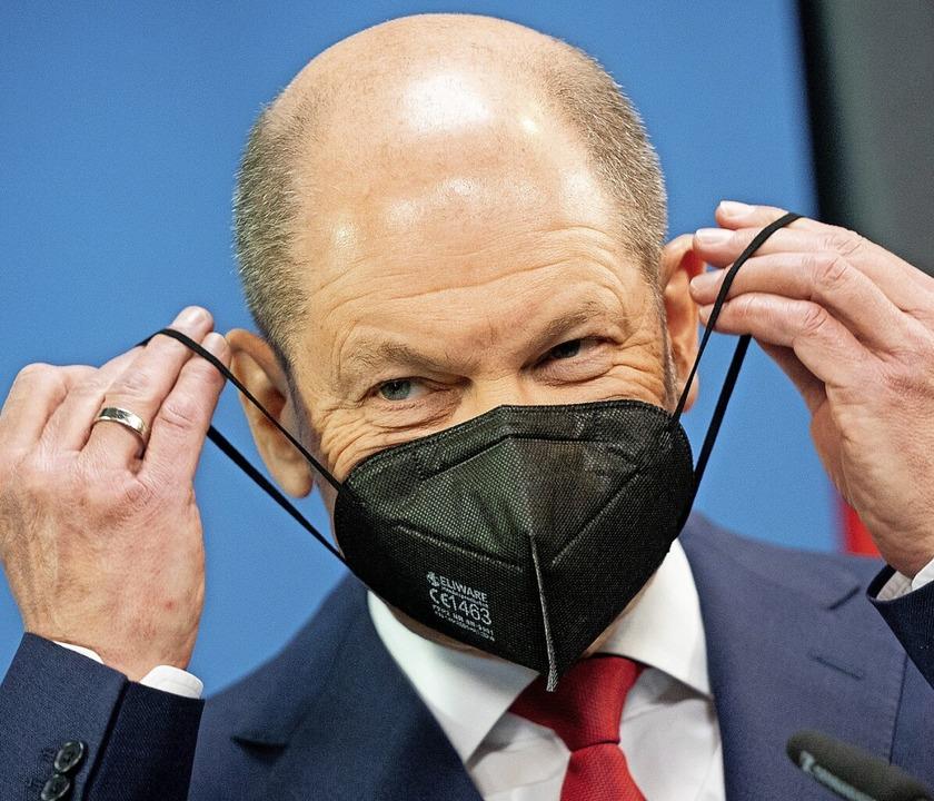 Minister Scholz hat sich von der schwarzen Null verabschiedet.    Foto: Kay Nietfeld (dpa)