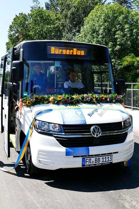 Einen Bürgerbus wie hier in Bad Krozin...chen Heuweiler und Gundelfingen geben.  | Foto: Frank Schoch