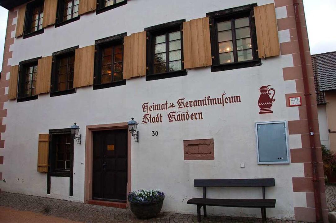 Das Heimat- und Keramikmuseum Kandern ...ng von Johannes Beyerle wieder öffnen.    Foto: frey