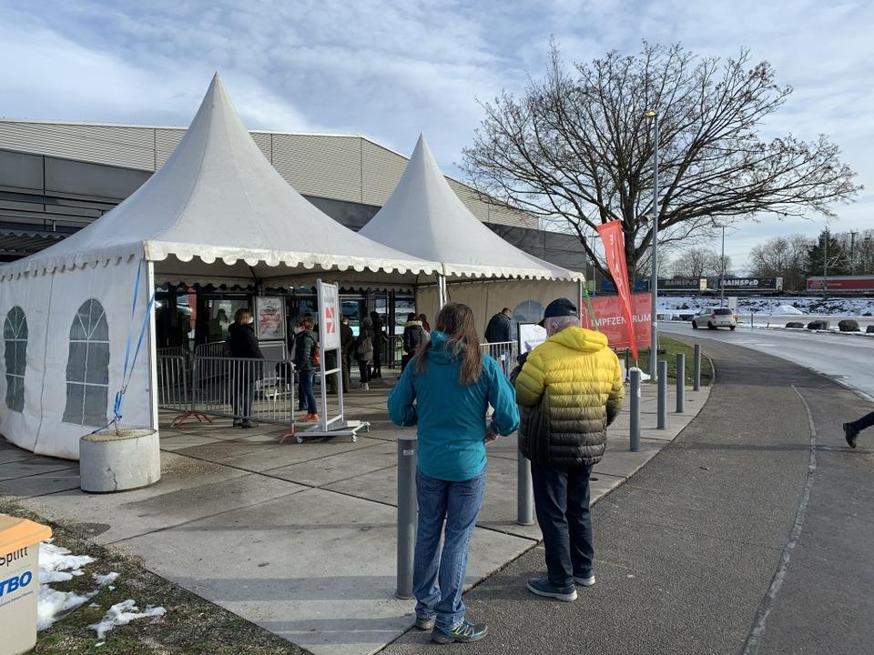 Wieder Normalbetrieb beim Offenburger Impfzentrum.    Foto: Helmut Seller