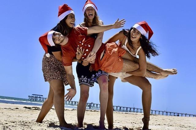 Weihnachtsfest am Strand