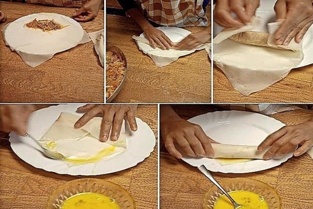Wie aus einem Briefumschlag ein leckeres Gericht wird