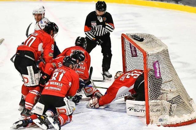 Der EHC Freiburg verliert das DEL-2-Spitzenspiel gegen den EC Kassel Huskies mit 0:2