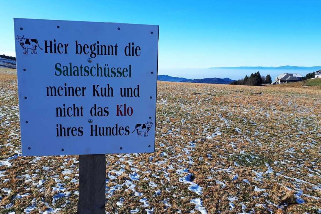 Warnschilder  finden sich im Dreisamtal.  | Foto: Michael Dörfler