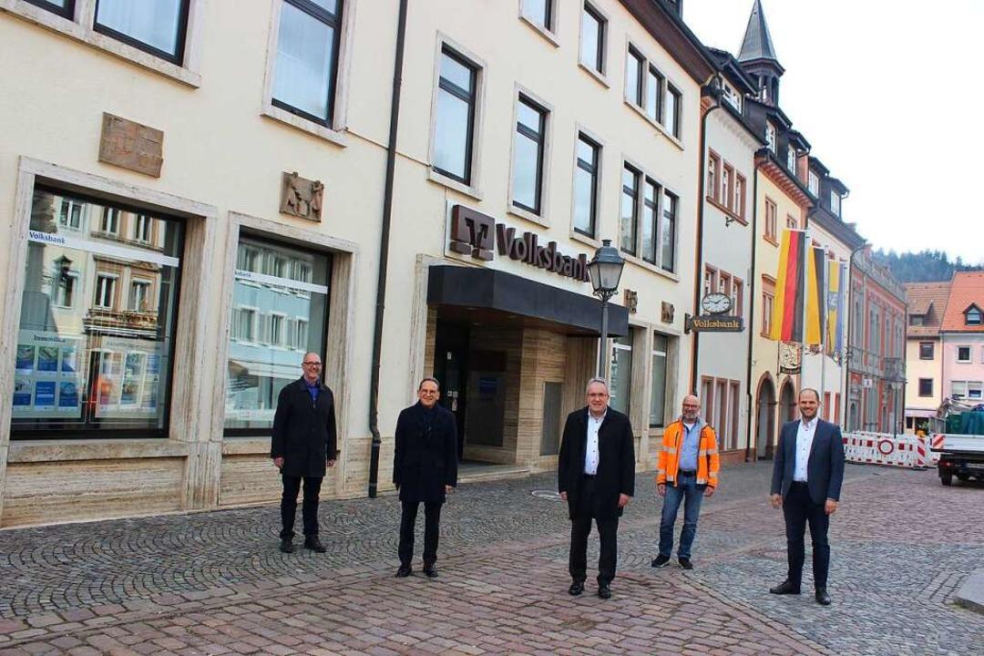 Sie stellten die Pläne für die Zukunft...man Götzmann (von links nach rechts).   | Foto: Bernd Fackler