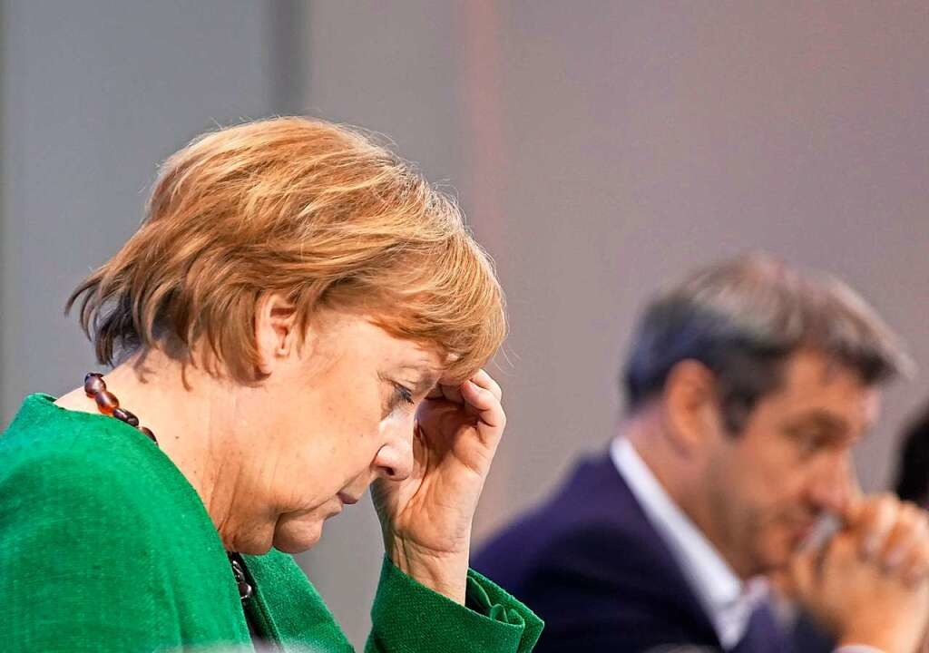 Kanzlerin Angela Merkel am Mittwoch  | Foto: Michael Kappeler (dpa)