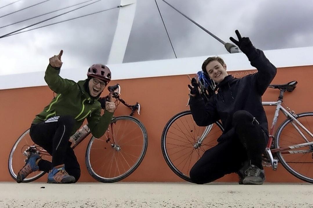 Mooswaldschule: Die Schülergruppe &#82...lte 266 Kilometer für den guten Zweck.  | Foto: privat