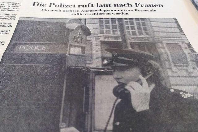 Dass Frauen bei der Polizei arbeiten könnten, war 1971 eine ganz neue Idee