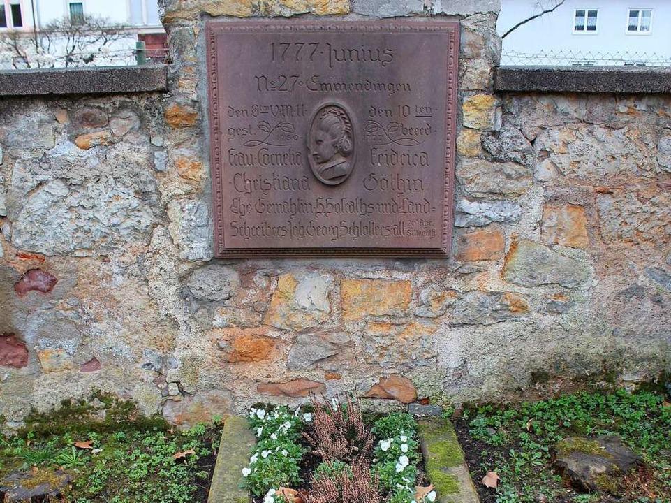 Das Grab Cornelias auf dem Alten Friedhof.  | Foto: Maya Schulz