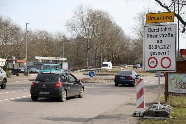 Ab Dienstag, 6. April, wird die Rheinstraße in Lahr komplett gesperrt