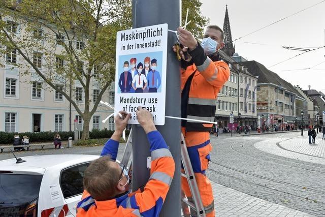 Maskenpflicht in der Freiburger Innenstadt gilt ab Montag wieder