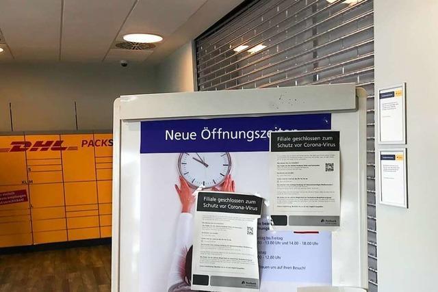 Postbankfiliale in Lörrach wegen eines Corona-Falls geschlossen