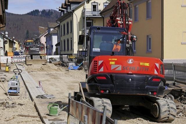 Baufortschritt trotz Winters