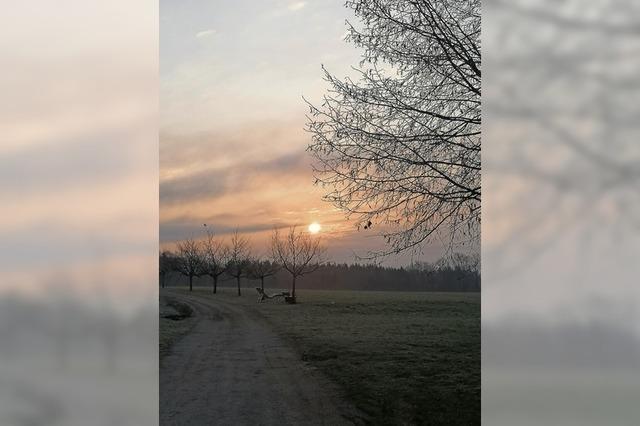 Sonnenaufgang in Rotzel