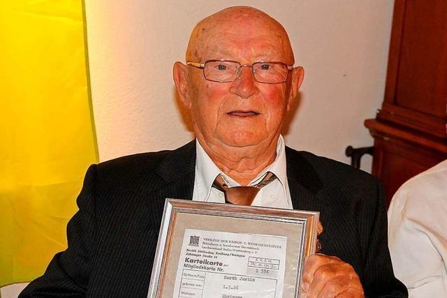 Justin Herth ist 95 Jahre alt und hat 1947 den VdK Ebringen mit gegründet