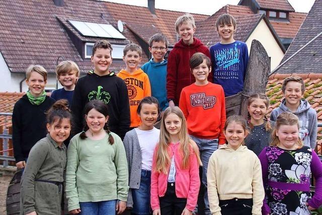 Auch die Hofackerschule aus Waltershofen hat mitgez(m)ischt
