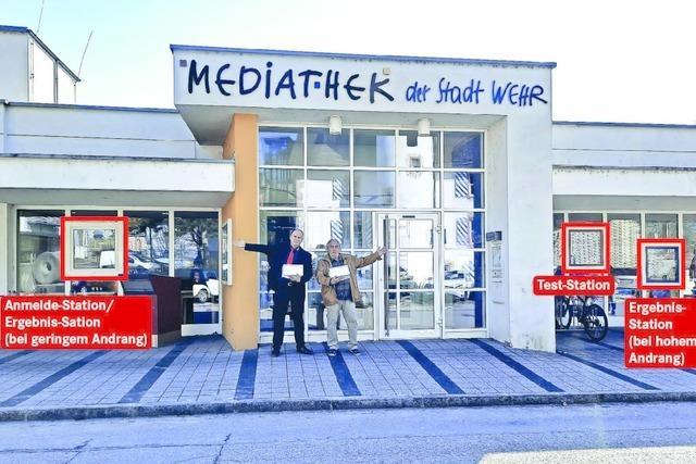 Mediathek in Wehr ist jetzt Testzentrum